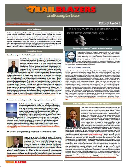 Newsletter_edition 5 June 2013