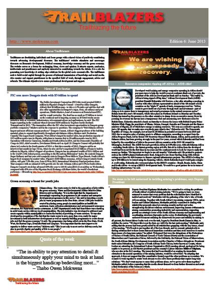 Newsletter_edition 6 June 2013